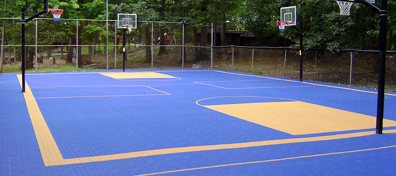 A Sport Surface for Indoor-Outdoor Sport. Court Tiles are Designed ...