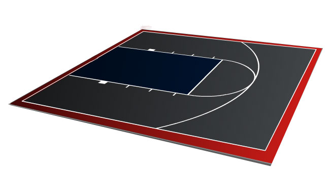Grey Basketball Court