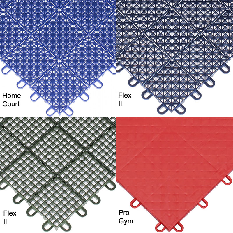 plastic interlocking sport tile