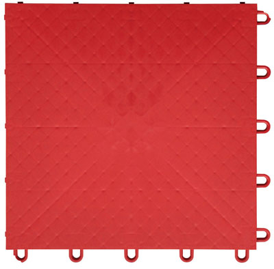 red smooth plastic tile