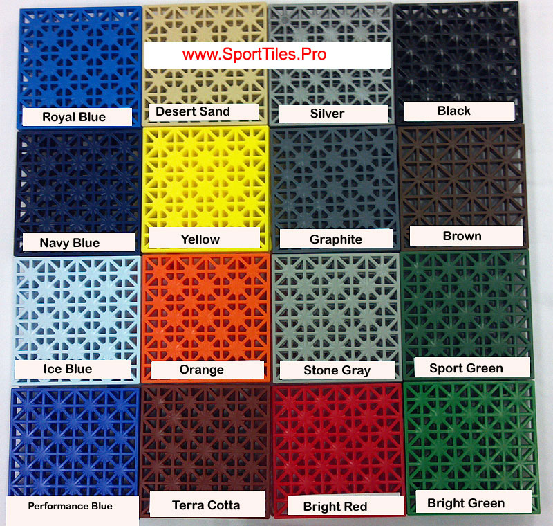 All Courts Sport Tiles For Indoor Outdoor Sports Game