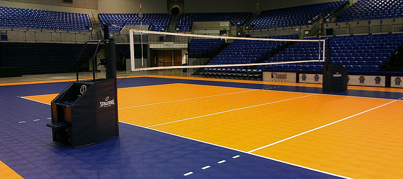 volleyball court tiles
